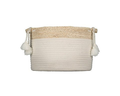 Rope & Straw Basket