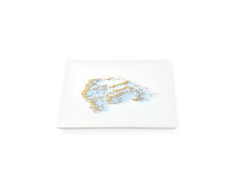 Soap Dish Gold Splash