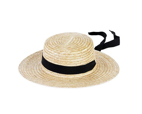 Boater Straw Hat With Ribbon